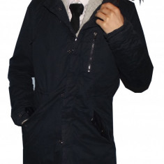 Palton barbati - Palton / Geaca lunga de fas cu gluga, Tip Zara Man