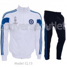 Trening ADIDAS CHELSEA LONDRA - Bluza si Pantaloni Conici - Pret Special - - Trening barbati, Marime: S, M, L, XL, Culoare: Alb, Bleu, Bleumarin
