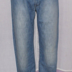 Blugi barbati ARMANI Jeans AJ 007 Indigo Series marimea W 32, Lungi, Prespalat, Drepti, Normal