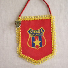 MCF - FANION - STEAUA BUCURESTI - CU INSIGNA - Fanion fotbal