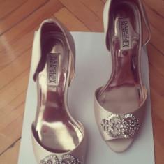 Rochie de mireasa printesa - Pantofi mireasa badgley mischka