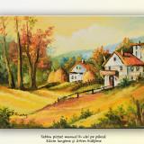 Peisaj rural (3) - tablou ulei pe panza, 32x24cm, An: 2015, Peisaje, Altul