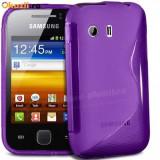 Husa Samsung Galaxy Y S5360 + stylus - Husa Telefon Samsung, Mov, Gel TPU