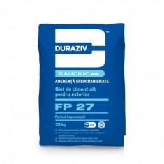 Glet de ciment alb pentru exterior Duraziv FP 27 - 20 kg