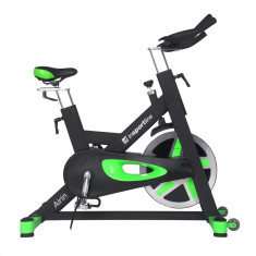 Bicicleta indoor cycling inSPORTline Airin/negu-verde - Bicicleta fitness
