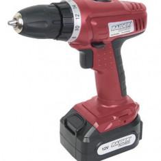 030120-Masina pentru gaurire si insurubare cu baterie 12V-2 viteze Raider - Bormasina Raider Power Tools