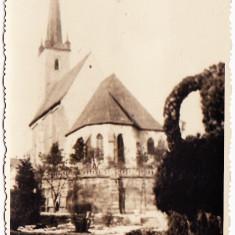 Carte Postala, Circulata, Printata - Dej jud Cluj Biserica reformata fotografiata din spate circulata