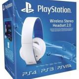 SONY PlayStation Casti Wireless pentru PS4 Albe