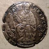 Moneda Medievala, Europa, An: 1600 - A.058 ITALIA BOLOGNA SF. PETRU GROS SEC XVI ARGINT 2, 0g/23mm