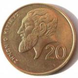 G5 CIPRU 20 CENTS CENTI 1991, 7.75 g., Nickel-Brass, 27.25 mm **, Europa, An: 1991