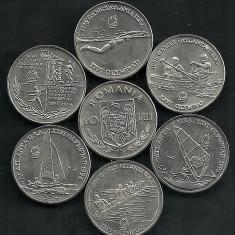 Monede Romania, An: 1996, Fier - ROMANIA 10 LEI 1996 SET ATLANTA 6 bucati, UNC, livrare in cartonas