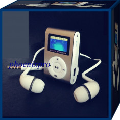 MP3 PLAYER RADIO FM + CASTI HEADSET, Albastru, Display, FM radio