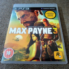 Joc Max Payne 3, PS3, original, alte sute de jocuri! - Jocuri PS3 Rockstar Games, Shooting, 16+, Single player