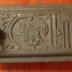 Metal/Fonta - Usa mica pentru teracota - usa pentru jar - model vechi deosebit cu marcaj !!!