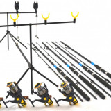 Set 4 Oxygen Select 3, 0m cu 4 SW50 cu 10 rul si bait runner, rod pod 4 full - Lanseta