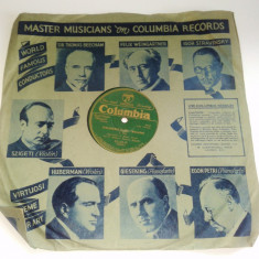 Disc vinil/ vinyl patefon/ gramofon VERLORENES GLUCK - Walzerlied - COLUMBIA - Muzica Clasica