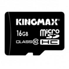 Kingmax, 16GB, KM16GMCSDHC10, Clasa 10, Micro Secure Digital Card cu adaptor SD - Card memorie Kingmax, Micro SD