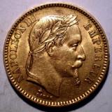 D.067 FRANTA NAPOLEON III 20 FRANCS FRANCI 1863 A AUR 0.900 6, 44g, Europa
