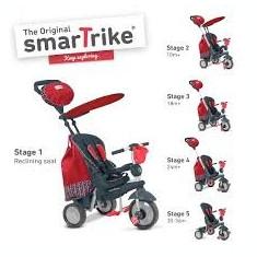 Tricicleta copii - Tricicleta Smart Trike Splash Red