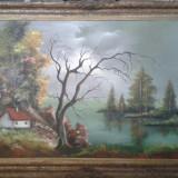 Pictura in ulei pe carton * Dimensiuni 60 x 90 cm - Pictor roman, Peisaje, Altul