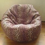 accesoriu mobila - Husa leopard pentru fotoliu puf, detasabila, lavabila, din material textil