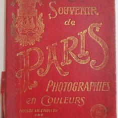 SOUVENIR DE PARIS. PHOTOGRAPHIES EN COULEURS. NOTICE IN ENGLISH AND FRENCH - Harta Europei