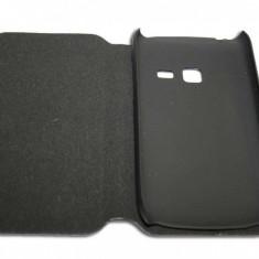 Husa Telefon - Husa Samsung Chat357 S3570 din piele neagra ECO tip carte