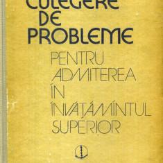 Octavian Stanasila - Culegere de probleme pentru admiterea in invatamantul superior - 536656 - Carte Chimie