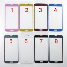 Geam carcasa - Ecran Samsung Galaxy s5 SM-G900F roz geam