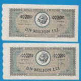 1000000 lei 1947 Serii Consecutive aUNC