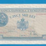 5000 lei 1945 21 august XF+