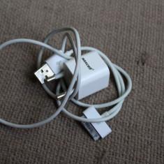 Incarcator si cablu de date IPhone - Incarcator telefon iPhone, iPhone 4/4S, De priza