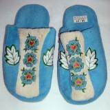 Papuci dama - Papuci de casa plusati marimea 36-37 - Super Pret