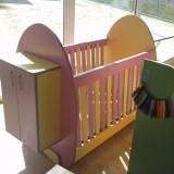 Patut lemn pentru bebelusi, 120x60cm - Patut Copii 0-2 ani