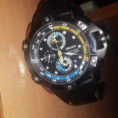 Seiko velatura titanium yachting timer, model spc049p1 - Ceas barbatesc Seiko, Sport, Quartz, Piele, Cronograf