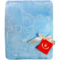 Paturica Plusata 3D 80X110 Cm - Bobobaby - Albastru - Lenjerie pat copii