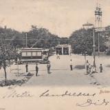 BRAILA, BULEVARDUL CAROL, INTALNIREA TRAMVAELOR, CIRCULATA JAN. 1906 - Carte Postala Muntenia pana la 1904, Braila, Circulata, Printata