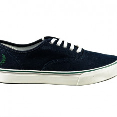 Tenisi FRED PERRY Clarence Navy nr. 39, 40 si 41, InCutie, COD 185 - Tenisi barbati Fred Perry, Textil