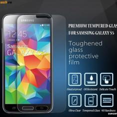 Folie de protectie, Samsung Galaxy S5, Anti zgariere - FOLIE STICLA SECURIZATA SAMSUNG GALAXY S5