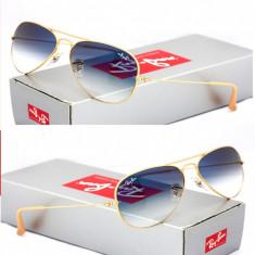 Ochelari de soare RAY BAN degrade aviator sticla, Unisex, Dreptunghiulari, Protectie UV 100%, Gradient