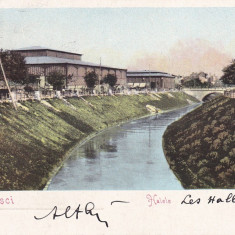 BUCURESTI, HALELE, CIRCULATA APR.*905 - Carte Postala Muntenia pana la 1904, Printata