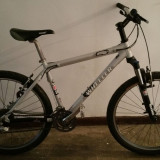 Mountain Bike, 18 inch, 26 inch, Numar viteze: 27, Aluminiu, Gri metalizat - Bicicleta MTB Wheeler stare foarte buna, sub 12 kg, Shimano XT si LX, Rockshox