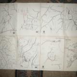 Harti Turistice- ONT : Delta Dunarii, Borsa, Muntii Calimani, Vrancei...1960 - Harta