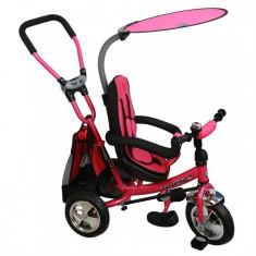 Tricicleta Cu Sezut Reversibil Safari Break 360° Pink - Tricicleta copii Baby Mix