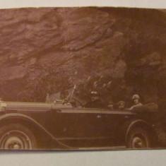 GE - Fotografie automobil de epoca Valea Oltului 1928, Sepia, Transporturi, Romania 1900 - 1950