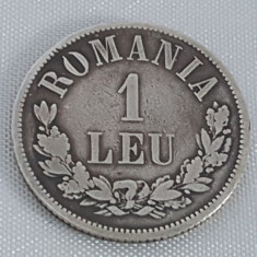 Monede Romania, An: 1873, Argint - 1 LEU 1873 ARGINT - O INTRERUPT