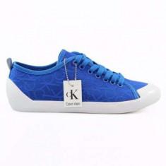 Tenisi Calvin Klein Giselle pentru barbati Adidasi din panza ck 40, 41, 42, 43, 44 - Tenisi barbati Calvin Klein, Culoare: Albastru, Visiniu, Textil