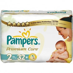 Scutece unica folosinta copii - PAMPERS Scutece Premium Care 2 Mini Carry Pack 32 buc
