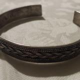 Bratara argint reglabila Veche executata manual Vintage Eleganta si de Efect 925