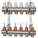 Termice - Distribuitor DN25 cu debitmetre si robineti termostatici K013 - ICMA 1 inch x 2